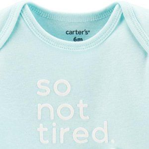 ** 8 for 25 ** Carter's So Not Tired Bodysuit 6m